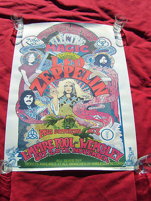 Led Zeppelin Electric Magic poster authorised and signed by designer