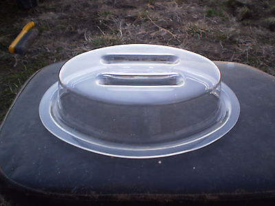"(Qty. 6) Carlisle - Clear 11 x 8"" Oval Plate Covers  #GROUPP1PCDR07"