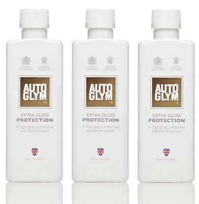 3 x Autoglym Extra Gloss Protection 325ml Post Polish Paint Sealant