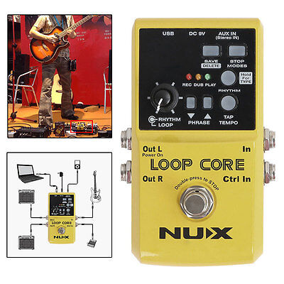 New NUX Loop Core Guitar Effect Pedal 6 Hours Recording Time Built-in Drum AU