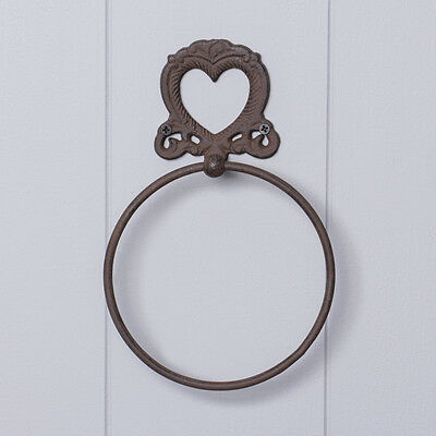 Cast Iron Heart Towel Ring by Dibor