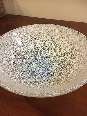 Kosta Boda Bowl White Speckled - Very Large