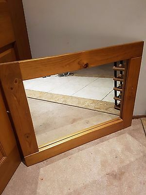 timber wall mirror