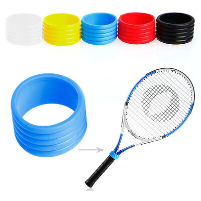 2Pcs Stretchy Tennis Racket Handle's Rubber Ring Tennis Racquet Overgrips Band