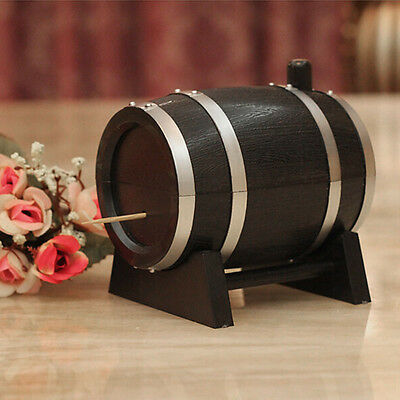 Creative Automatic Wine Barrel-Shaped Toothpick Holder Home Restaurant Decor