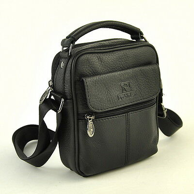 Men Women Genuine Leather Small Shoulder Handbag Classic Mobile Bag Casual Purse