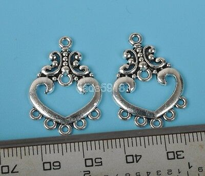 25pcs Tibetan Silver Earring Connectors  FOR jewelry making crafts 21mm