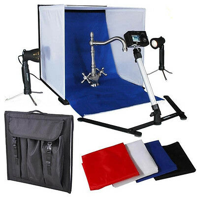 50cm Tent Cube Photo Video Soft Box Softbox Continuous Light Stand Kit Backdrop