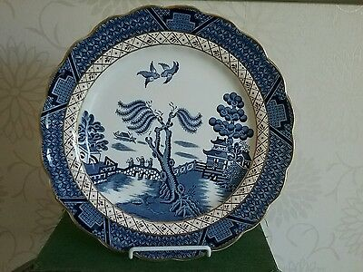 Booths Real Old Willow 9.5 inch  Blue & White Dinner Breakfast Tea plate  A8025