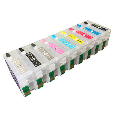 Refillable Ink Cartridge Set for EPSO N R3000 PHOTO R3000 157  Empty cartridge