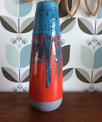 German lava vase red and blue