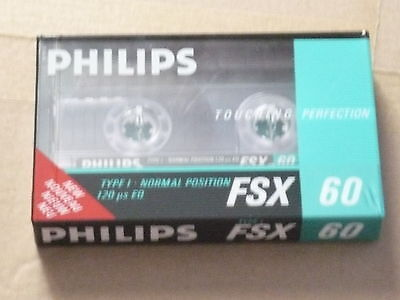 cassette tape rare retro vintage Philips FSX 60 new and sealed