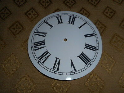 "Round Paper Clock Dial- 7 3/4"" M/T - Roman - High Gloss White - Face/Clock Parts"