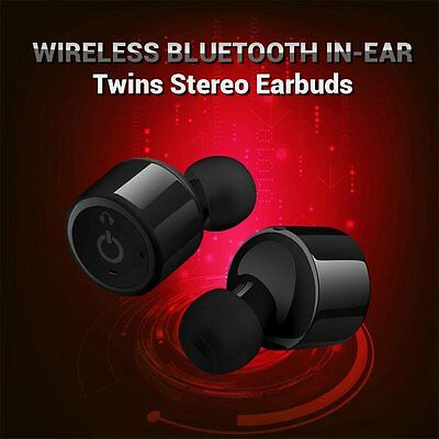 True Wireless Bluetooth Mini Twins Stereo In-Ear Earbud Headset Earphone Earbuds