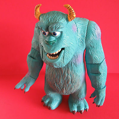 "Monsters Inc. - 10"" Tall Hard Plastic Sully Figure - Roars And Moves - Disney"