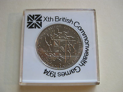 1974 NEW ZEALAND $1.00 COIN - Xth BRITISH COMMONWEALTH GAMES