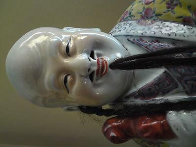Very large Antique Chinese famille rose porcelain Immortal statue figure a/f