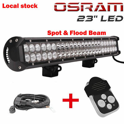 "23"" inch LED Light Bar Combo Wiring Offroad Truck Driving Chevrolet ATV 4WD Jeep"