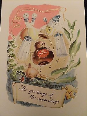1945 Advert...bovril....the Greetings Of The Seasons.