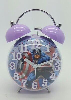 MARVEL Captin America ALARM CLOCK KIDS BEDROOM GIFT SUPER HEROES CHILDRENS BOYS