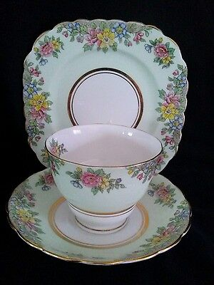Vintage Colclough Green China trio Near Perfect Not Used