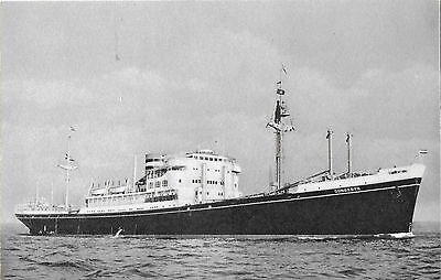 RP Card HOLLAND AMERICA LINE M.V. DONGEDYK (ex DELFTDYK later TUNG LONG)