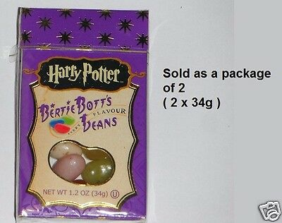 2 x HARRY POTTER BERTIE BOTT'S Every Flavours Jelly Beans 34g USA