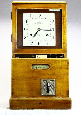 Vintage/ Antique -Factory Clocking In Clock - National Time Recorder