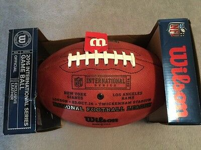 Nfl International Series 2016 - New York Giants - L A Rams Game Wilson Football