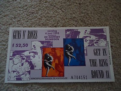 Guns n Roses get in the ring Round 11 1993 Concert Ticket