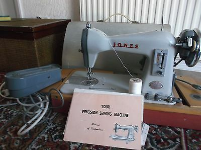 Jones Vintage Cbd Sewing Machine With Carry Case
