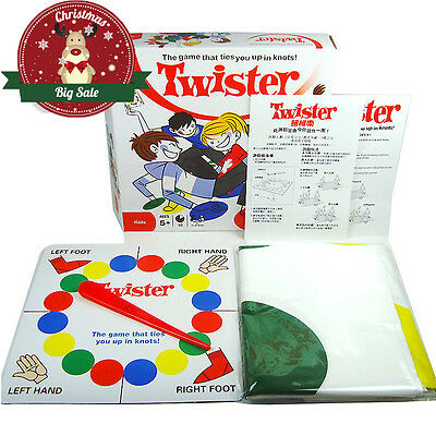 New Classic Twister Game Family Friends Moves Game Classic Board Toy Xmas Gift