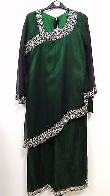 ladies Kurta/Kurti black green two pices out fit, size 38""
