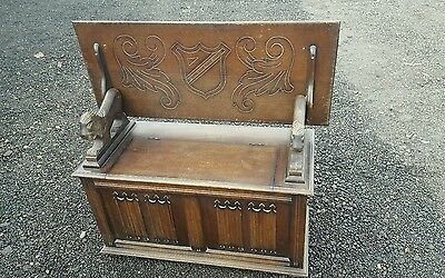 vintage monks bench, hall seat, settle,  table shabby chic project