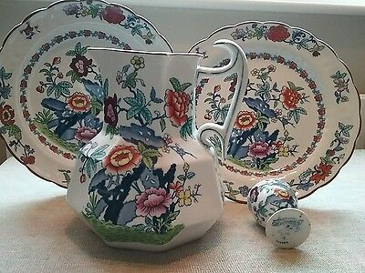 Antique Large Booths Pompadour 8 sided Jug Silicon China  1920s