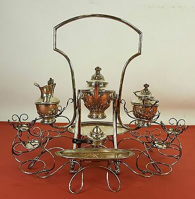 Stunning Convoy Of Tea. 6 Services In Solid Silver . Contrasts. Century Xix-Xx.
