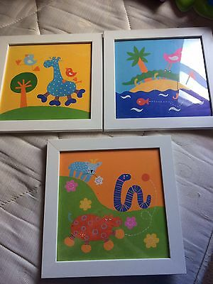 Children's  Room Animals Framed Pictures