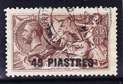 BRITISH LEVANT GV 1921 SG48 45p on 2/6 chocolate-brown - very fine used. Cat £45