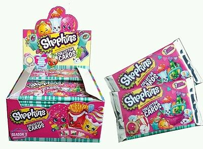 Shopkins Season 3 Collector Cards : 36 Booster Packs