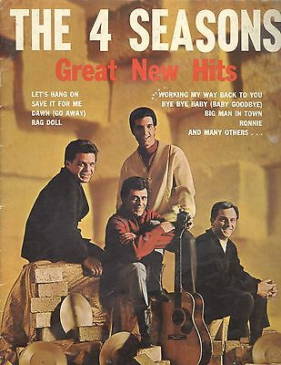 Vintage 1966 4 Seasons Great New Hits Songbook Piano/Vocal/Chords Bye Bye Baby