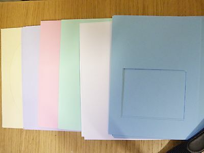 52 Pastel Coloured Blank Aperture Cards