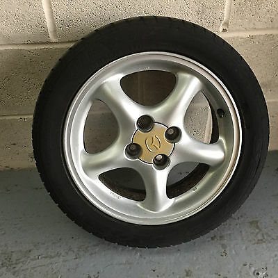 """Set of 4 Standard 15"""" Mazda MX5 Mk2 Alloy Wheels And Tyres"""