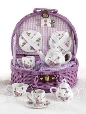 Delton Products Butterfly Tea Set small tabletop decoaration ornament ware Cups