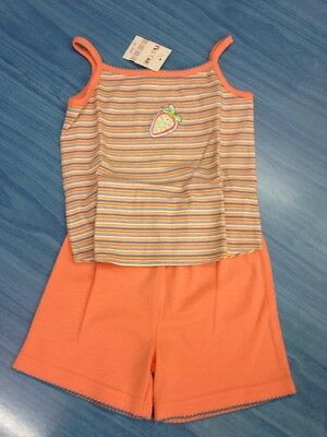 Baby GIRL Summer Set Short+Top SALMON PINK 18 Months 100% Cotton PICK OUIC BNWT