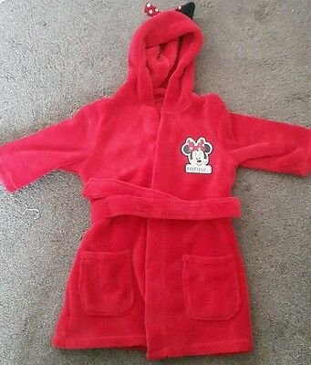 Minnie mouse dresssing gown 12-18months