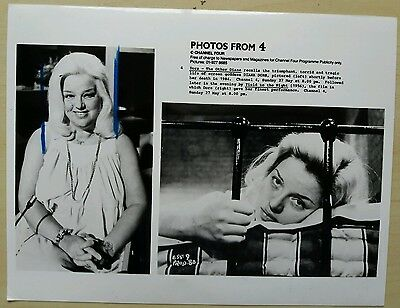 Channel 4 TV press promo photograph 1980s, Dors - The Other Diana, ephemera