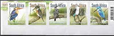 South Africa 2016 Kingfishers strip of 5 very fine unhinged
