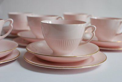 Pink Tea cup Saucer Tea plate Trio English Vintage China High Tea Party