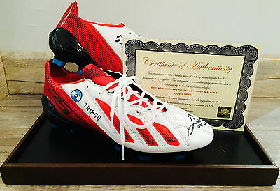 Limited Edition Pair of Lionel Messi signed Adidas Adizero F50 Boots