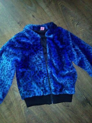 girls fur feel coat/jacket age 8